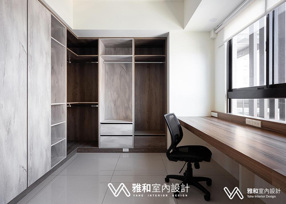 北歐風重點在於木質色調,雅和室內設計巧妙的用深淺色木質搭配,讓牆面色調不單調。