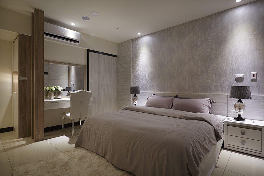 臥室,壁紙、地毯、窗簾、床單,室內設計,室內裝潢,裝潢,裝修,桃園室內設計,中壢室內設計,雅和室內設計,雅和設計